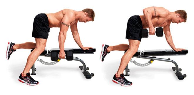 Упражнения на спину со штангой и гантелями